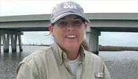 Join Capt. Bob and his guests, Lance and Robin LaRocca as they fish the Access Canal for Bull Red fish and Red Fish.