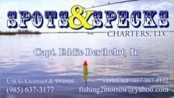 Spots & Specks Charters - redfish, speckled trout fishing in Louisiana, in LA