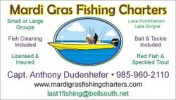 Capt. Anthony Dudenhefer Mardi Gras Fishing Charters - red fish, speckled trout, fish louisiana, louisi in Louisiana