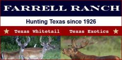 Farrell Ranch - Guided hunt, whitetail deer, red stag,axis dee in Texas
