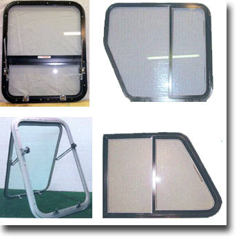 B&J Aluminum Windows - The Best Marine Custom Built Boat Windows and Windshields on the market.