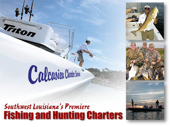 Calcasieu Charter Service - Whether you are in search of that once in a lifetime trophy, entertaining an important business contact or just taking the family or friends out for a little fun, Calcasieu Charter Service can provide the right trip for your group.