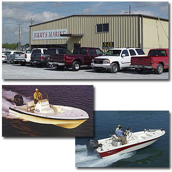 Jerry's Marine - Your fishing boat headquarters with bay boats by Blackjack, Frontier, & NauticStar, Aluminum fishing boats by Duracraft and pontoon boats by Biscayne Bay.