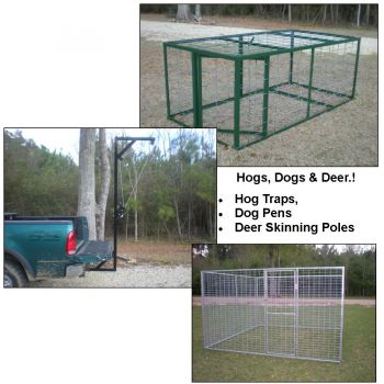 Outdoor Products Manfacturing - Made to order Dog Kennels and Hog traps.