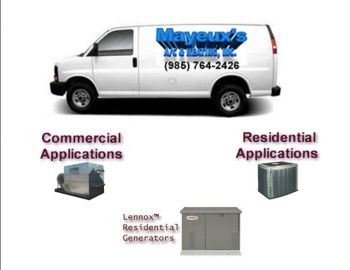 Mayeux's A/C & Htg., Inc. - Featuring quality Lennox products for all you heating and cooling applications in St Charles.  Call now to have your home inspected for optimal indoor air quality. Financing available.