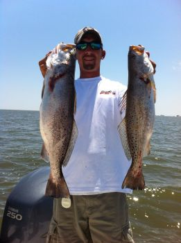 Cast and Blast Charters - The Louisiana Delta is known for its abundance of world class trout and redfish.