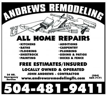 Andrews Remodeling - Andrews Remodeling has over 25 years of experience in home remodeling, repair and additions. No job is too big or too small. We guarantee all of our work and believe the job is not complete until the customer is satisfied.