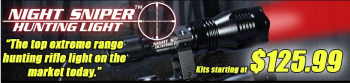 Predator Hunter Outdoors - Predator hunting doesn't need to end once the sun goes down. With our exclusive Night Sniper Hunting Light�, you can safely and effectively target coyotes, foxes, bobcats, raccoons, wild hogs and other predators at night.