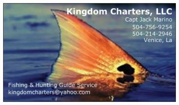 Kingdom Charters - Inshore fishing guide- Venice, La *Redfish *Speckled Trout *Drum Fish *Red Snapper *Sheepshead