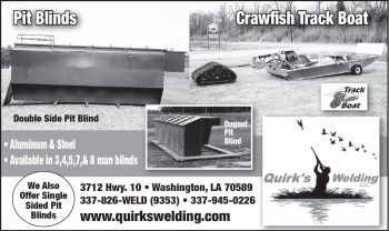 Quirk's Welding - Quirk's Welding has been designing and fabricating custom style duck blinds for the most passionate duck hunters around the United States.