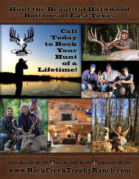 Rock Creek Trophy Ranch - Guided Trophy Deer Hunts, Axis deer,  lodging, East Texas.