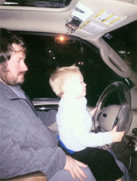 Daddy I can drive better than you
