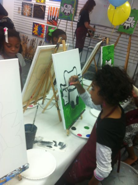 A true artist at work  - Shantrell Byrd