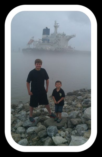 My boys & the ghost ship