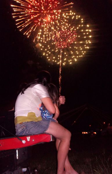 Fireworks on the levee - Kellie Tonglet