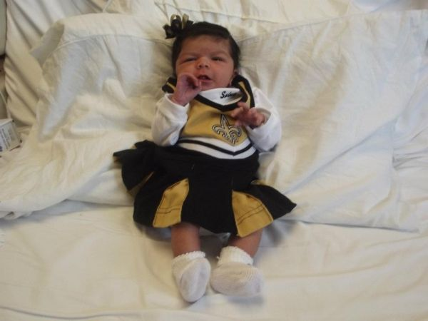 Saints Cheerleader!  - Melvin Jenkins Jr