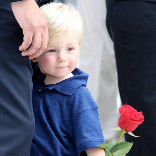Sebastian at Police Memorial - Rochelle Champagne Fahrig