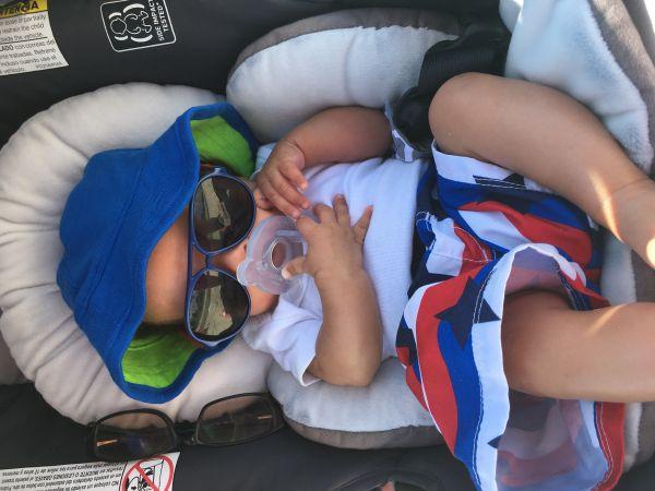 Baby's first beach day -NikkiSevin