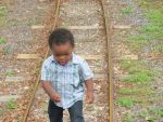 Reginald Love Beard: Walking on the tracks in the park