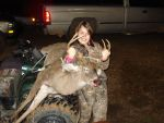 Tabitha   Fraino Beard: Taba frist deer 9point 175lbs