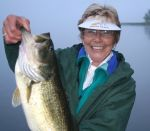 Dave  Wylie Beard: Sue\'s 2nd big bass of the day.