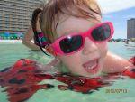 KandeeJacobs Beard: Kalleigh enjoying the clear blue water