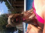 Gabrielle Adams Beard: Miley getting her tan on