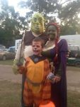 marcia anderson Beard: halloween Family drees up