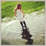 Southern Sweetheart: linen and rubber boots, Photo submitted by Tracy Naquin