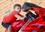Crusin on Daddy's Bike!, Photo submitted by Krystal Simmons
