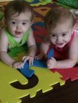 Twin Granddaughters, Photo submitted by Robin Borey