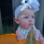Bridgette Domengeaux  Beard: My very first pumpkin patch.