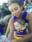 Brittany Gibson  Beard: Kiley and her nanny cheering