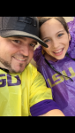 George Dugas Beard: Rainy Day But Emily\'s First LSU Game