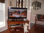 Angie Gendron Beard: Brees watching T.V.